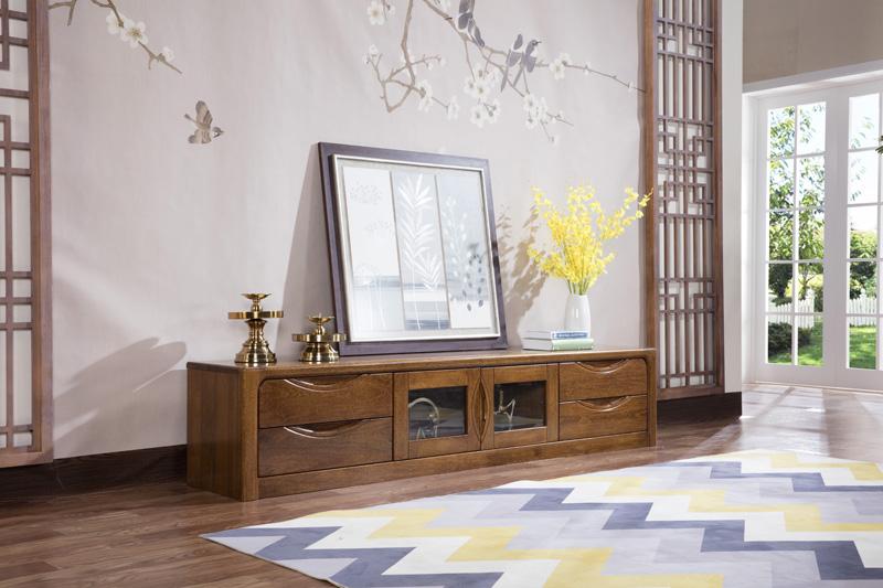 日照实木家具实木矮柜