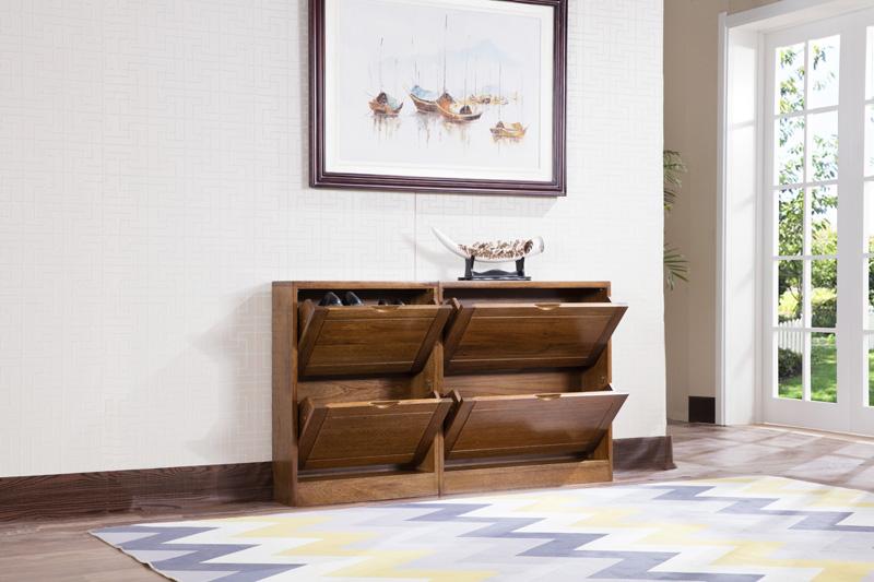 日照实木家具 实木鞋柜