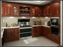 日照实木家具整体厨房安装