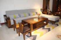 中式实木沙发