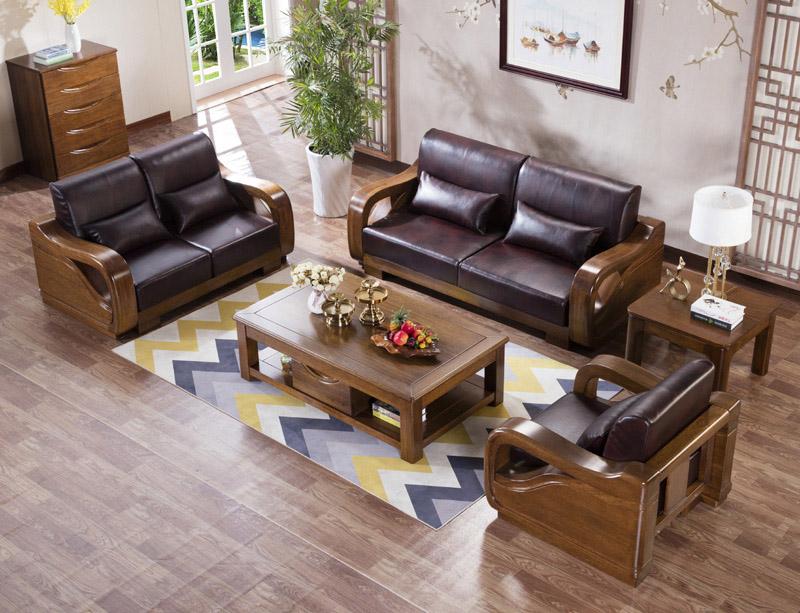 白橡木实木沙发